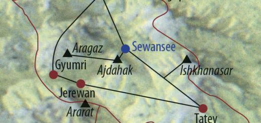 Karte Reise Armenien Auf zu den Gipfeln im Land der Aprikosen 2021/22