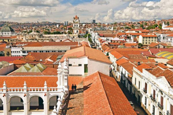 Prachtvolle Kolonialgebäude in Sucre