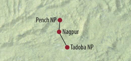Karte Reise Indien Der Tiger im Fokus 2021/22