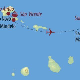 Karte Reise Kapverden Wanderparadies Santo Antao 2021/22