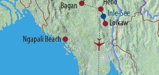 Karte Reise Myanmar Zu Besuch bei den Völkern Burmas 2021/22