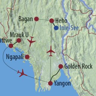Karte Reise Myanmar Zwischen Tradition und Aufbruch in Burma 2021/22