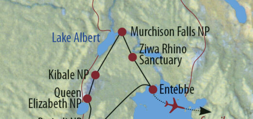 Karte Reise Uganda • Tansania Ins Grüne Herz Afrikas und auf die Insel Sansibar 2021/22