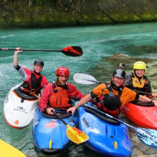 Wildwasser-Kajak Soča (Slowenien) + Salza (Österreich) Gruppenreise