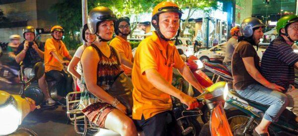 Vespatour durch Saigon