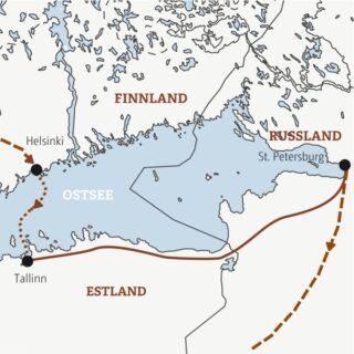 Entdeckerreisen Helsinki-Tallinn-St. Petersburg – Entlang der Bernsteinküste Sonderreise 2022 | Erlebnisrundreisen.de