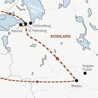 Entdeckerreisen Moskau-St. Petersburg – Von der Moskwa an die Newa Sonderreise 2022 | Erlebnisrundreisen.de