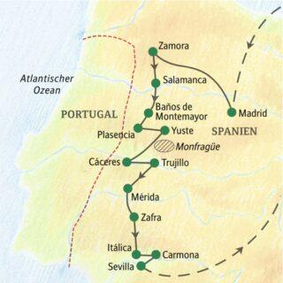 Entdeckerreisen Spanien: Von Parador zu Parador – Auf dem Silberweg Sonderreise 2022   Erlebnisrundreisen.de