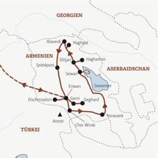 Rundreise durch Armenien in neun Tagen