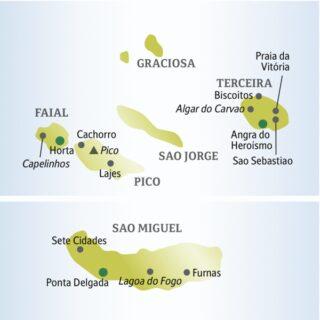 Elf Tage mit anderen weltoffenen Singles und Alleinreisenden die grüne Inselwelt der Azoren entdecken
