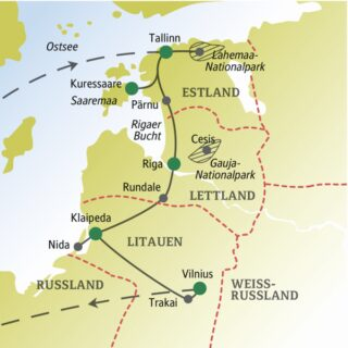 13 Tage im Baltikum mit sympathischen und weltoffenen Singles und Alleinreisenden