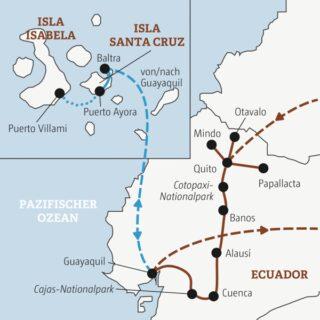 Je nach Wahl in 14 oder 18 Tagen die Highlights von Ecuador erleben: mit oder ohne die faszinierende Tierwelt der Galápagos-Inseln