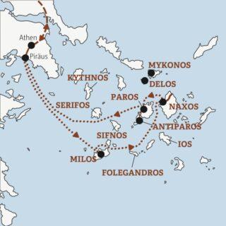 In 15 Tagen zu den schönsten Inseln der Kykladen: von Athen nach Milos