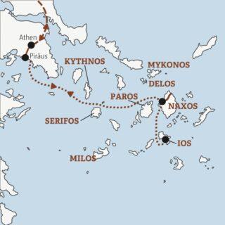 10-tägiges Island Hopping in der Ägäis: von Athen nach Naxos und Ios Young Traveller