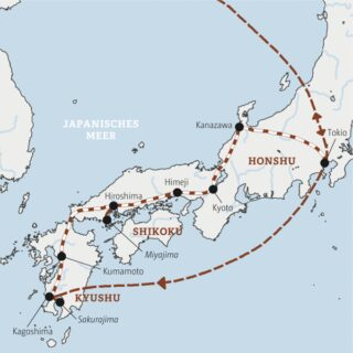 Eine ausführliche Reise in 12 Tagen mit der Bahn durch Japan