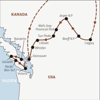 In zwei Wochen zu den Highlights Westkanadas – durch die Rocky Mountains bis zum Pazifik Young Traveller
