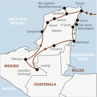 Gut zweiwöchiger Mexiko-Abenteuer-Mix mit Mayastätten