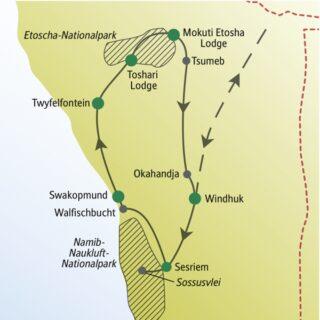 Für ein erstes Kennenlernen von Namibia