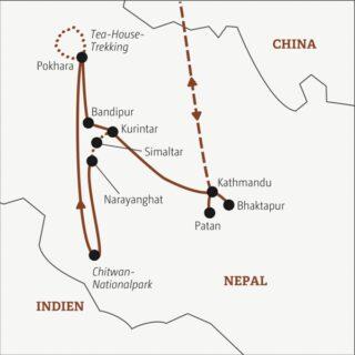 Gut zweiwöchige Rundreise zu den Höhepunkten des Himalayareiches für abenteuerlustige Traveller Young Traveller