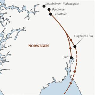Norwegischer Winter-Mix für Aktive: unterwegs zwischen Oslofjord und dem schneebedeckten Fjell Young Traveller