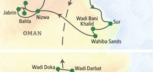 Mit Aufenthalt im Weihrauchland Dhofar im Süden des Omans 2022