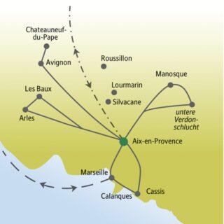 Städtereise nach Aix-en-Provence mit anderen weltoffenen Singles und Alleinreisenden