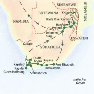 In zwei Wochen zu den Höhepunkten Südafrikas inklusive Safari im Krügerpark 2022