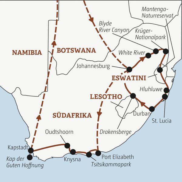 Südafrika Rundreisen junge Leute 2021