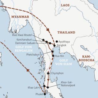 Über Land mit Bus und Zug durch Südthailand – von Bangkok über Kanchanaburi bis Khao Lak