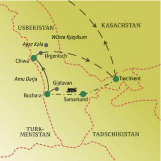 Die Höhepunkte Usbekistans zusammen mit anderen weltoffenen Singles und Alleinreisenden entdecken