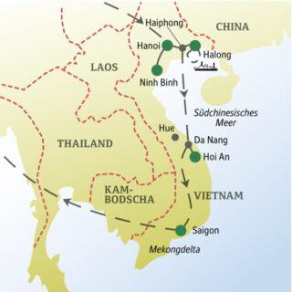 Vietnam von Nord bis Süd gemeinsam mit anderen weltoffenen Singles und Alleinreisenden erkunden